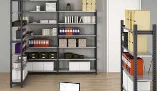 Металлические сборно-разборные стеллажи для офиса и дома